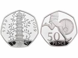 Kew Gardens Design 50p New 50p Royal Mint Unveils 50th Aniversary Coins Featuring