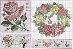 Вышивка крестом рисунки роз
