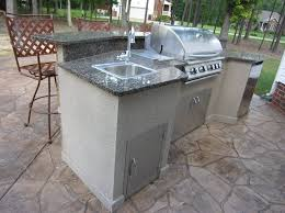 modern outdoor kitchen kits with granite top and sink