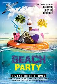 Summer Party Flyers Beach Party Flyer 70 Best Summer Beach Flyer Print Templates 2017