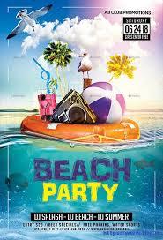 Beach Flyer Beach Party Flyer 70 Best Summer Beach Flyer Print Templates 2017