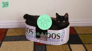 how to make a cat bed from a cardboard box zappos com diy