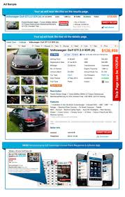 ad sample direct seller used car ad sample