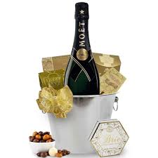 moet chandon chagne bucket gift basket