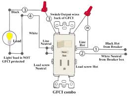 how to install and troubleshoot gfci how to wire a gfci switch outlet combo at Wiring Diagram For Gfci Receptacle