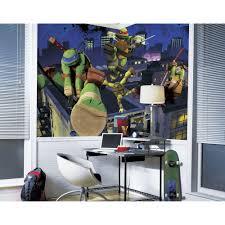 Ninja Turtle Bedroom Decor Roommates 72 In X 126 In Teenage Mutant Ninja Turtles Cityscape