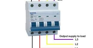 phase rcd wiring diagram image wiring diagram 4 pole mcb breaker wiring in urdu electrical tutorials on 3 phase rcd wiring diagram