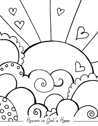 Cute Heart Coloring Pages Rainbow Heart Coloring Page Cute Easy