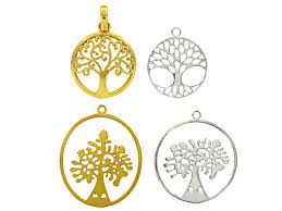 tree of life pendant set of 4 in silver tone and gold tone jlw9538 jtv com