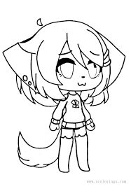 Find more awesome gacha images on picsart. Girl With Tail From Gacha Life Coloring Pages Xcolorings Com