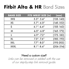 Fitbit Alta Hr Size Chart Replacement Watch Band For Fitbit Alta And Alta Hr Twist O