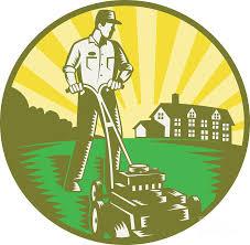 gardener mowing lawn mower retro digital art by aloysius patrimonio gardener digital art gardener mowing lawn mower retro by aloysius patrimonio