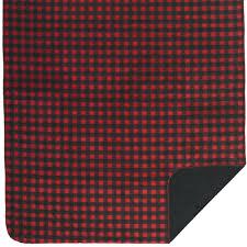 red black buffalo check blankets throw rug