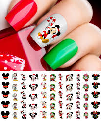 20 Waterslide Mickey Mouse Head Face Christmas Nail Art Decals for ...
