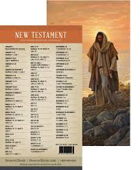 New Testament Reading Chart 2019 2019 New Testament Reading Schedule Bookmark