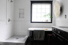 appealing tile bathroom. Bathroom. Alluring Bathroom Vintage Styling In Apartment Decor Establish Appealing Black Standing Bathtub Near Tile