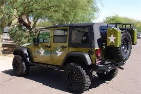 2007 jeep wrangler custom 4 door war wagon rear