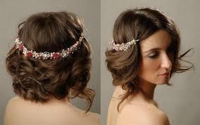 Svatební účes Pro Krátké Vlasy S Třesky Foto