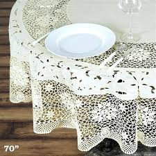 white lace round tablecloth small vintage lace