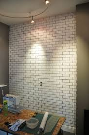 brick painting ideasMural Yourself Making Fake Brick Wall As A Rustic Decoration