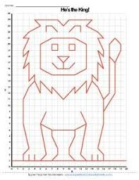 Lion Graphing Picture Graph Paper Drawings Graph Paper