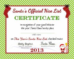Printable Christmas Certificates Printable Christmas Certificates Templates Free Festival Collections