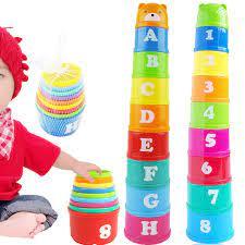 9 cái đồ chơi giáo dục em bé 6 tháng + hình chữ cái gấp cốc xếp chồng tháp  trẻ em thông minh sớm - Sắp xếp theo liên quan sản phẩm