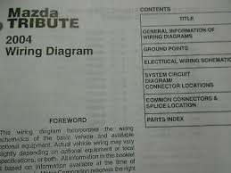 2004 mazda tribute electrical wiring diagram service repair shop 2004 mazda tribute electrical wiring diagram service repair shop manual book 04 2