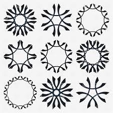 Vignette Design Round Design Elements Vignette And Snowflake Design