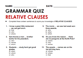 Теоретические материалы и задания part 3. Relative Clauses 7 Of The Best Worksheets Examples And Resources For Ks2 Spag English