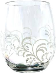 acrylic stemless wine glass cherish set of 4 glasses personalized plastic canada copy leaves stemless wine