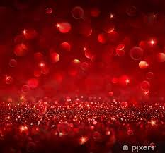 Christmas Background Christmas Background Shining Red Glitter Poster
