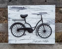 bicycle wall art reclaimed wood and bicycle wall art shabby chic wall art bicycle wall decor shabby chic wall decor metal bicycle on bike wall artwork with bicycle wall decor etsy