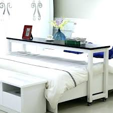 rolling bedside table desk over bed that goes movable small work bedroom living r