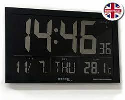 large lcd digital wall clock