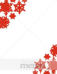 Red Snowflake Background Christmas Menu Borders