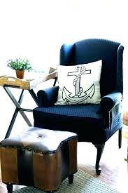 blue wingback chair. Impressive Marvelous Navy Blue Wingback Chair Leather With Trim Wing D