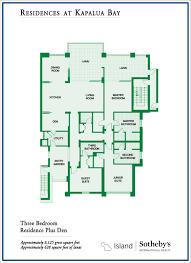 3 bedroom den to view larger montage residences kapalua bay four bedroom floor plan