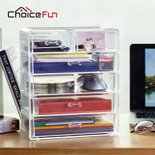 choicefun best selling office large jewelry box 5 drawers acrylic cosmetic organizer glossy makeup organizer drawers