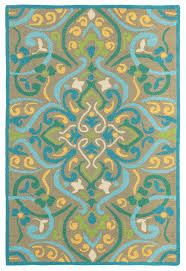 morocco outdoor rug in aqua for cottage bungalow