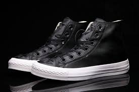 transpa pc soles black converse lamb emboss all star chuck taylor leather high tops sneakers