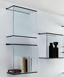 wall mounted glass display shelves