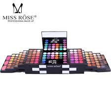miss rose brand make up caja cosmética waterproof shimmer mineral powder sombra de ojos blush professional kit pleto de maquillaje por huangcen