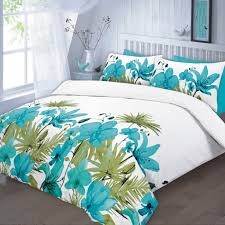 lily duvet cover set super king size teal zoom
