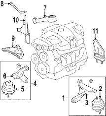 parts com® buick lucerne engine trans mounting oem parts 2008 buick lucerne cxl v6 3 8 liter gas engine trans mounting