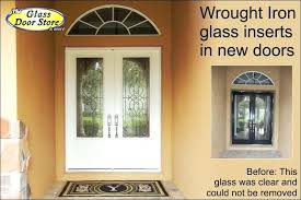 wrought iron glass doors view larger image wrought iron glass entry doors wrought iron stained glass door inserts