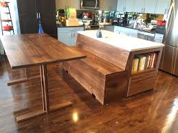 custom furniture bay area. Custom Kitchen Island With Adjoined Storage Bench Furniture Bay Area