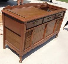 New life to an old record player stereo cabinet