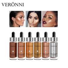 veronni brand face liquid highlighter makeup brighten shimmer shiny illuminator glow bronzer contour cosmetics kit 6
