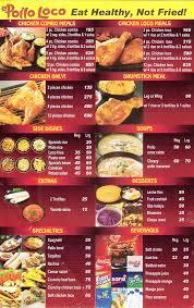 El Pollo Loco Nutrition Chart Chef In Training El Pollo Loco Menu